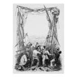 Vintage Pirates with Their Shipwrecked Pirate Boat Print