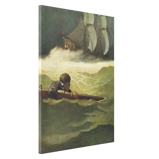 Vintage Pirates, Wreck of the Covenant by NC Wyeth Canvas Print