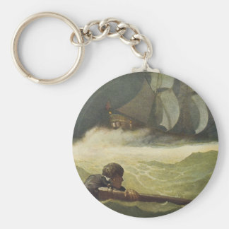 Vintage Pirates, Wreck of the Covenant by NC Wyeth Keychain