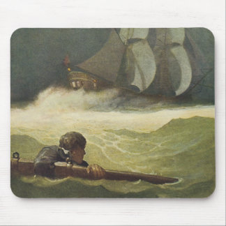 Vintage Pirates, Wreck of the Covenant by NC Wyeth Mouse Pad