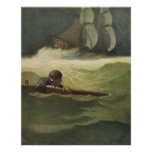 Vintage Pirates, Wreck of the Covenant by NC Wyeth Poster