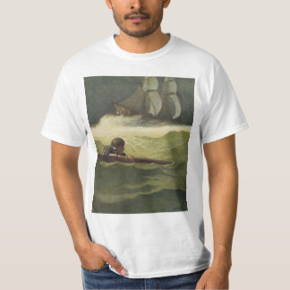 Vintage Pirates, Wreck of the Covenant by NC Wyeth T-Shirt