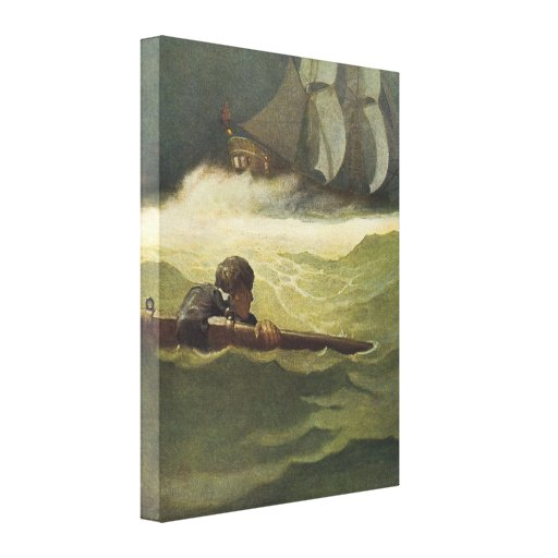 Vintage Pirates; Wreck of the Covenant, NC Wyeth Canvas Print
