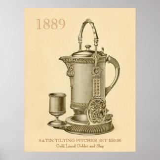 Vintage Pitcher 1889 Poster