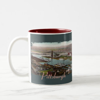 Vintage Pittsburgh 1800s Coffee Mug