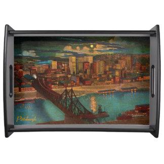 Vintage Pittsburgh por la bandeja del claro de