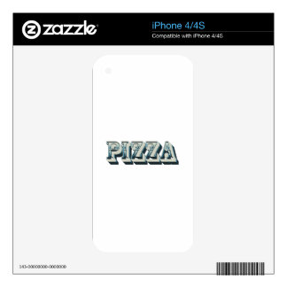 Vintage Pizza for trendy hipsters and foodies Decal For The iPhone 4