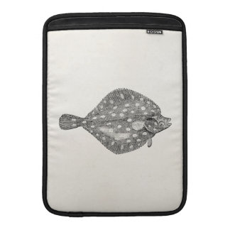 Vintage Plaice Flounder Fish Template Blank MacBook Air Sleeve