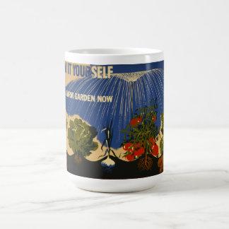 """Vintage """"Plan a Garden"""" WPA Poster Mug"""