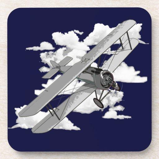 Vintage Plane Beverage Coaster