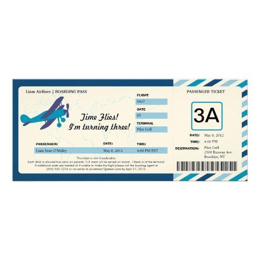 Boarding Pass Ticket Invitations