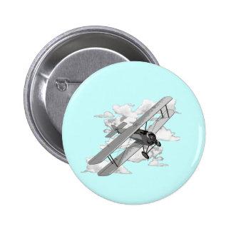 Vintage Plane Button