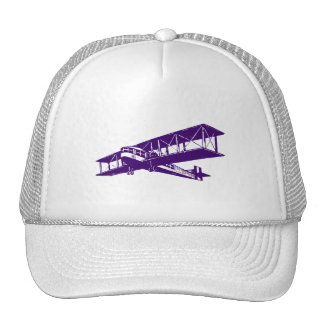 Vintage Plane - Deep Purple Trucker Hat