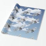 Vintage Plane Gift Wrap Paper