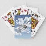 """Vintage Plane Playing Cards<br><div class=""""desc"""">Vintage aviation art design of a historical biplane.</div>"""