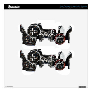 Vintage plane WWII flying dials displays PS3 Controller Decals