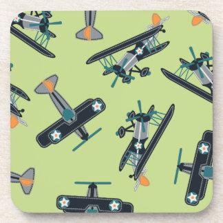Vintage planes coaster