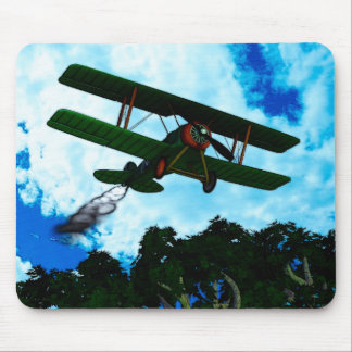 Vintage Planes Illustrated Series Mouse Pad