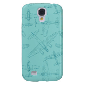 Vintage planes pattern galaxy s4 cover