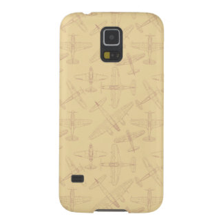 Vintage planes pattern galaxy s5 cover