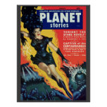 "Vintage ""Planet Stories"" pulp comic Poster"