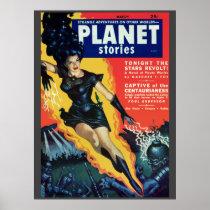 """Vintage """"Planet Stories"""" pulp comic"""