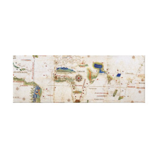 Vintage Planisphere Map of the Old World Canvas Print