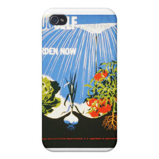 Vintage Plant a Garden Now WPA Poster iPhone 4/4S Case