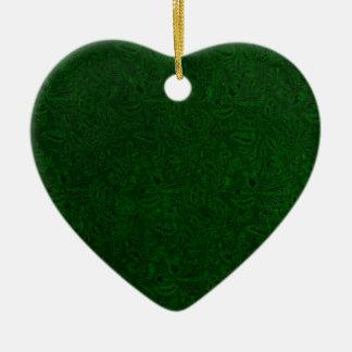 Vintage Plants Green Heart Ornament