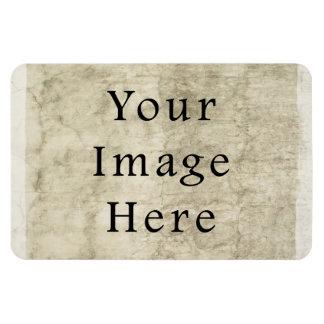 Vintage Plaster Beige Parchment Paper Background Rectangular Magnets