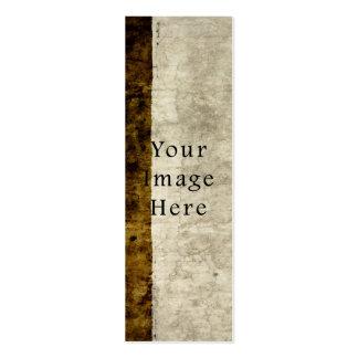 Vintage Plaster Brown Beige Tan Parchment Paper Mini Business Card