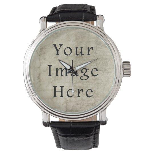Vintage Plaster Brown Beige Tan Parchment Paper Wrist Watch