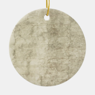 Vintage Plaster or Parchment Background Customized Ceramic Ornament