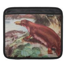 Vintage Platypus Illustration, Animal Drawing Sleeve For iPads