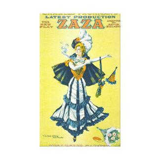 Vintage Playbill de teatro 1899 Impresiones En Lona