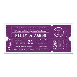 "Vintage Playbill Theater Ticket Wedding Invitation 4"" X 9.25"" Invitation Card"