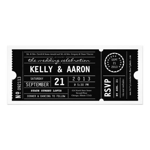 Vintage Playbill Theater Ticket Wedding Invitation 4 X 925 Invitation Card