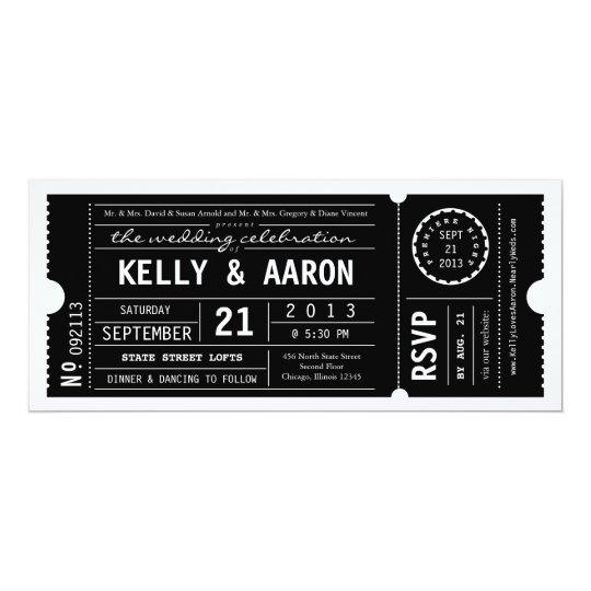 Vintage Playbill Theater Ticket Wedding Invitation Zazzlecom