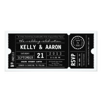 Vintage Playbill Theater Ticket Wedding Invitation
