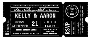 movie ticket wedding invitations zazzle