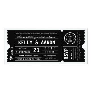 Vintage Playbill Theater Ticket Wedding Invitation  Invitation Ticket