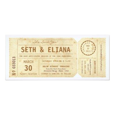 playbill theater ticket wedding invitation gray zazzle com