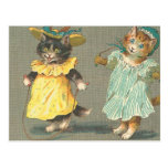vintage playful kittens post cards