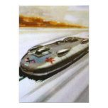 """Vintage Playing Card of a racing Car Invitation 5"""" X 7"""" Invitation Card"""