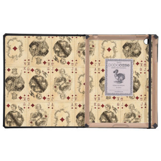 Vintage Playing Cards Ace Queen King Jack Collage iPad Cases