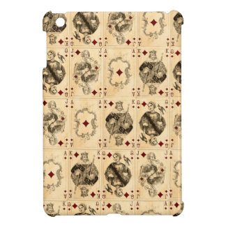 Vintage Playing Cards Ace Queen King Jack Collage iPad Mini Cover