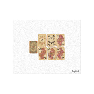 Vintage Playing Cards Canvas Print