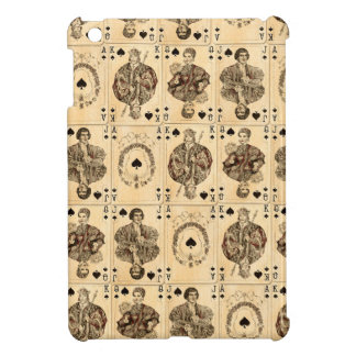 Vintage Playing Cards Collage Ace Queen King Jack iPad Mini Cases