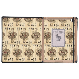 Vintage Playing Cards Collage Queen Spades iPad Cases