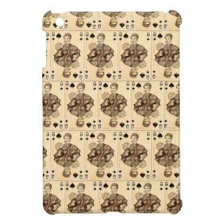 Vintage Playing Cards Collage Queen Spades iPad Mini Cases